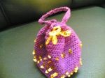Crochet amulet bag